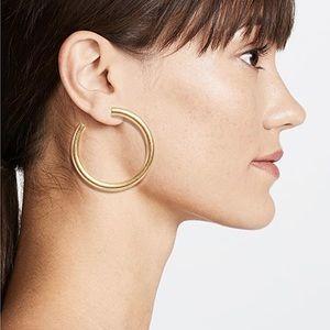 Madewell gold chunky oversized hoop earrings